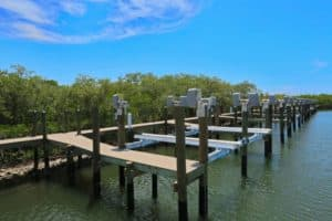 Specialty Lifts Gallery - image Beamless-lifts-in-marina-no-boats-300x200 on http://iqboatlifts.com
