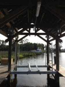 Boathouse Lifts Gallery - image Boathouse-No-Boat-end-view-225x300 on http://iqboatlifts.com