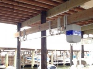 Boathouse Lifts Gallery - image Boathouse-hanger-bracket-1-300x225 on http://iqboatlifts.com