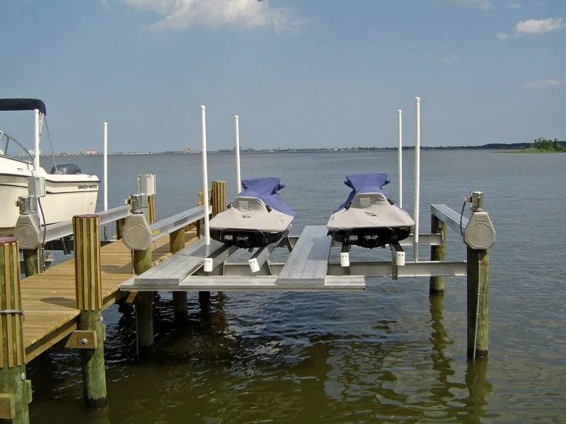 PWC Lifts | Personal Watercraft Lifts - image PWC-dual-4 on http://iqboatlifts.com