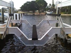 Vertical Lifts Gallery - image SailBoat-Stanchion-system-300x225 on http://iqboatlifts.com