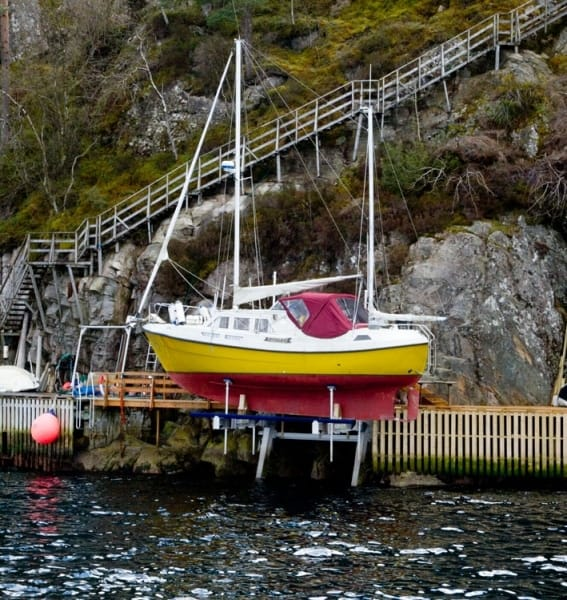 Why Buy a Boat Lift? - image Sailboat-elevator-Norway on http://iqboatlifts.com