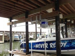 Boathouse Lifts Gallery - image boathouse-hanger-bracket-2-300x225 on http://iqboatlifts.com