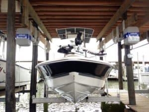 Boathouse Lifts Gallery - image boathouse-hanger-bracket-4-300x225 on http://iqboatlifts.com