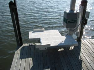 PWC Lifts Gallery - image kayak-swivel1-300x225 on http://iqboatlifts.com