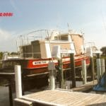Red Nordic tug boat uses IMM Quality boat lift rated for 40,000 pounds