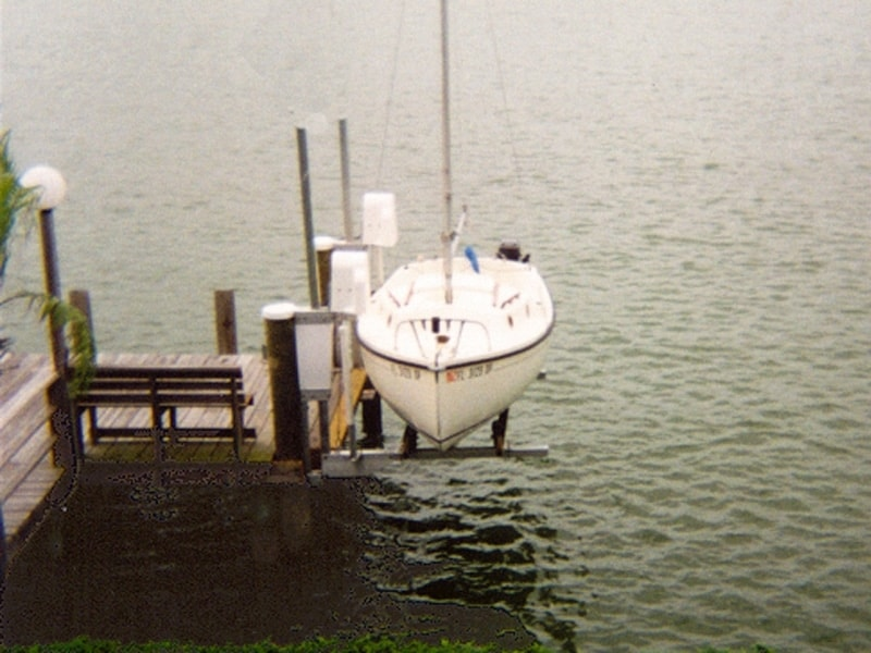 Vintage Boat Lift Styles - image sail1 on http://iqboatlifts.com