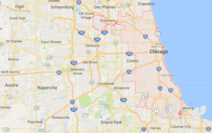 Google map of boat lifts in Chicago IL