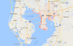Google map of boat lifts in Tampa FL