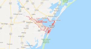 Google map of boat lifts in Corpus Christi TX