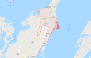 Google map of boat lifts in Rockport TX
