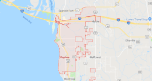 Google map of boat lifts in Daphne AL