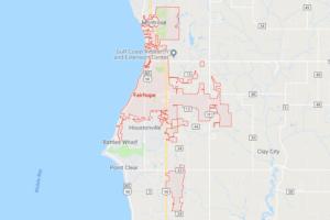 Google map of boat lifts in Fairhope AL