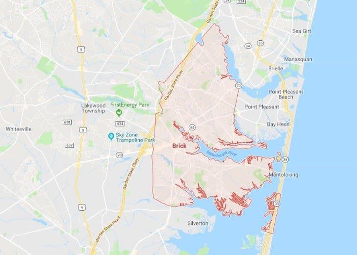 Boat Lifts in Bricktown NJ Map