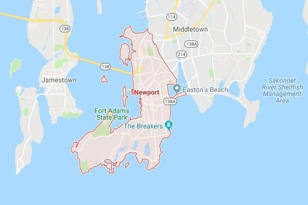 Boat Lifts in Newport RI Map