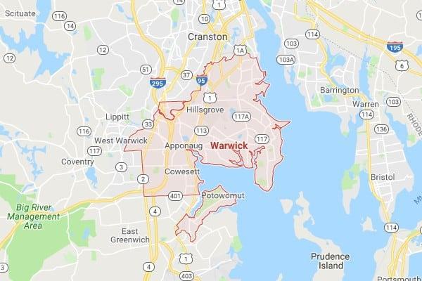 Boat Lifts in Warwick RI Map