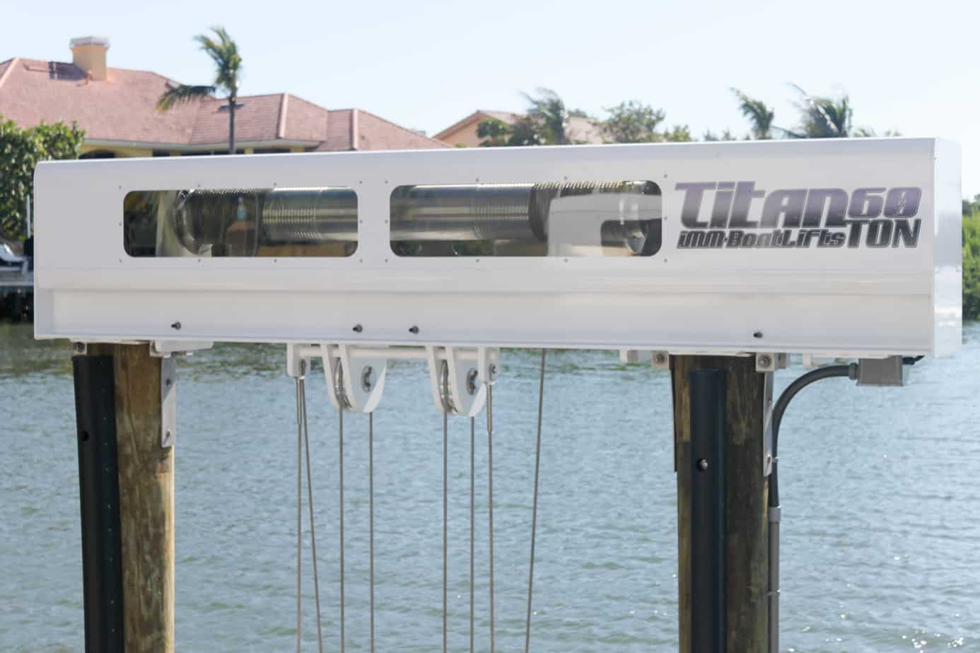 Should You Go For Galvanized Or Stainless Boat Lift Cables - image patented-technology-Titan-Beam on http://iqboatlifts.com