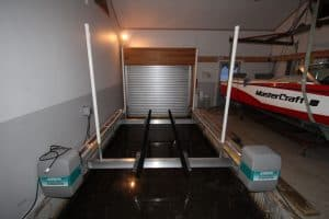 Vertical Lifts Gallery - image Alumavator-in-Garage-2-300x200 on http://iqboatlifts.com