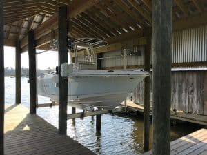 Boathouse Lifts Gallery - image 7K-Boathouse-Platinum-Robalo-Lift-Solutions-300x225 on http://iqboatlifts.com