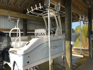 Boathouse Lifts Gallery - image 7K-Boathouse-Platinum-Robalo-Lift-Solutions2-300x225 on http://iqboatlifts.com