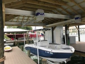 Boathouse Lifts Gallery - image Boathouse-suspension-bracket-3-300x225 on http://iqboatlifts.com