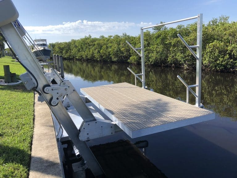 Deck Lifts - image Elevator-deck-lift-with-access-platform-and-kayak-rack-768x576 on http://iqboatlifts.com