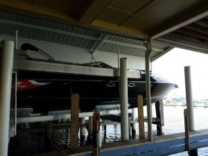 Boathouse Lifts Gallery - image Superlift-Diversion-custom-bunks-6-300x225 on http://iqboatlifts.com