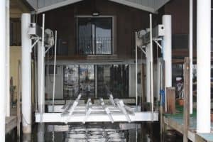 Vertical Lifts Gallery - image Superlift-custom-bunks-6-300x200 on http://iqboatlifts.com