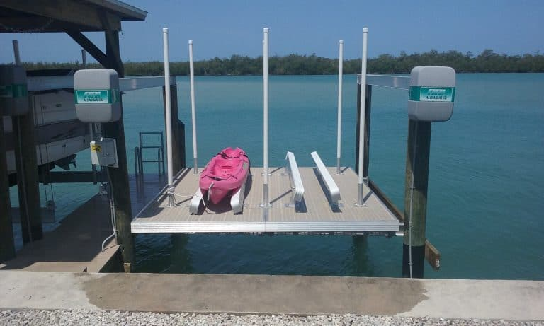 Deck Lifts - image Thru-Flow-with-kayak-1-768x461 on http://iqboatlifts.com