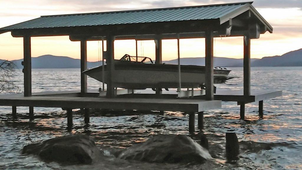 beautiful boathouse lift by imm quality boat lifts