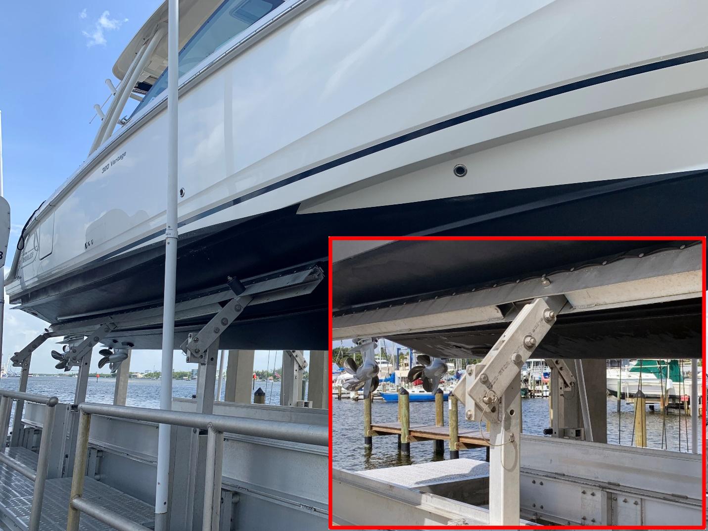 Brackets On Lift Iq Boat Lifts