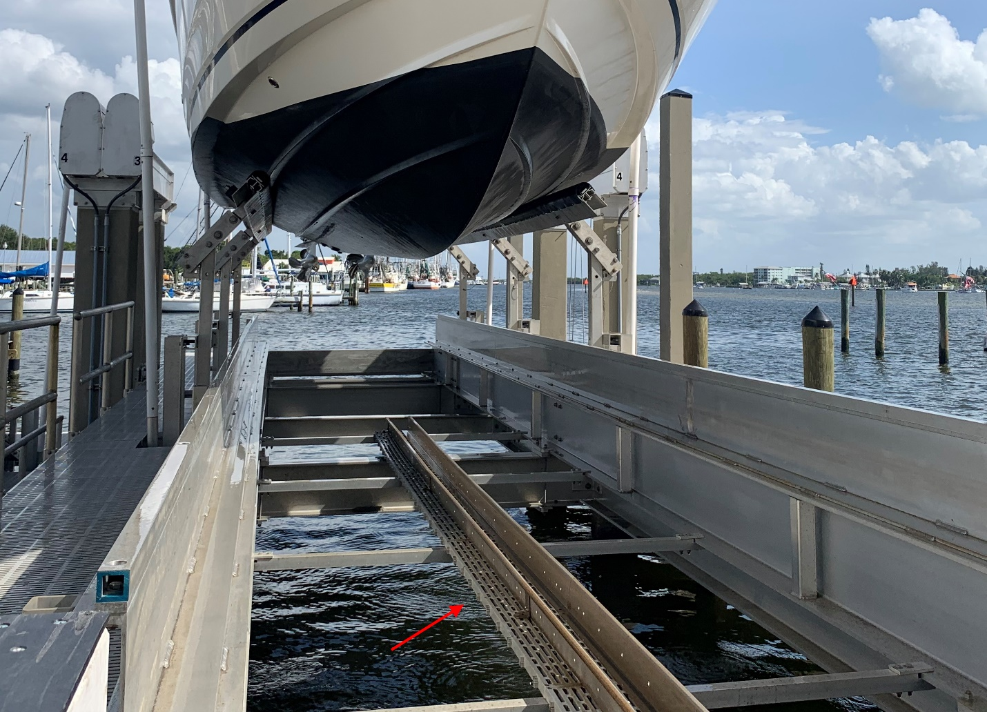 Channel Down Center Of Cradle IMM Quality Boat Lifts