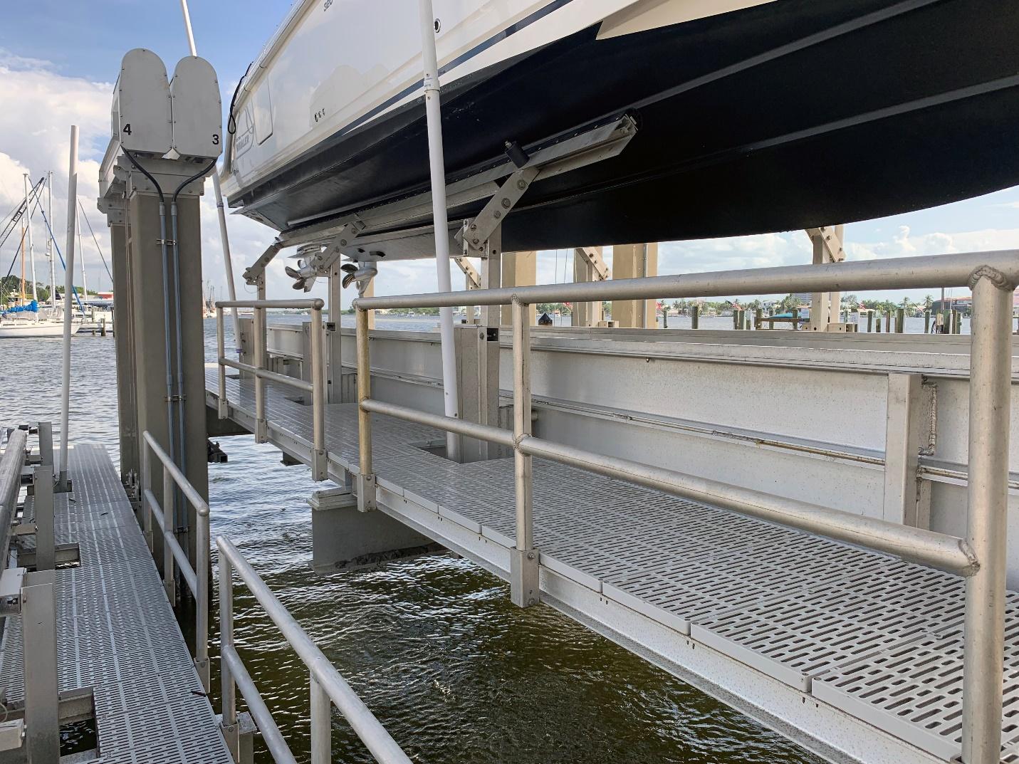Walk Around Access IMM Quality Boat Lifts