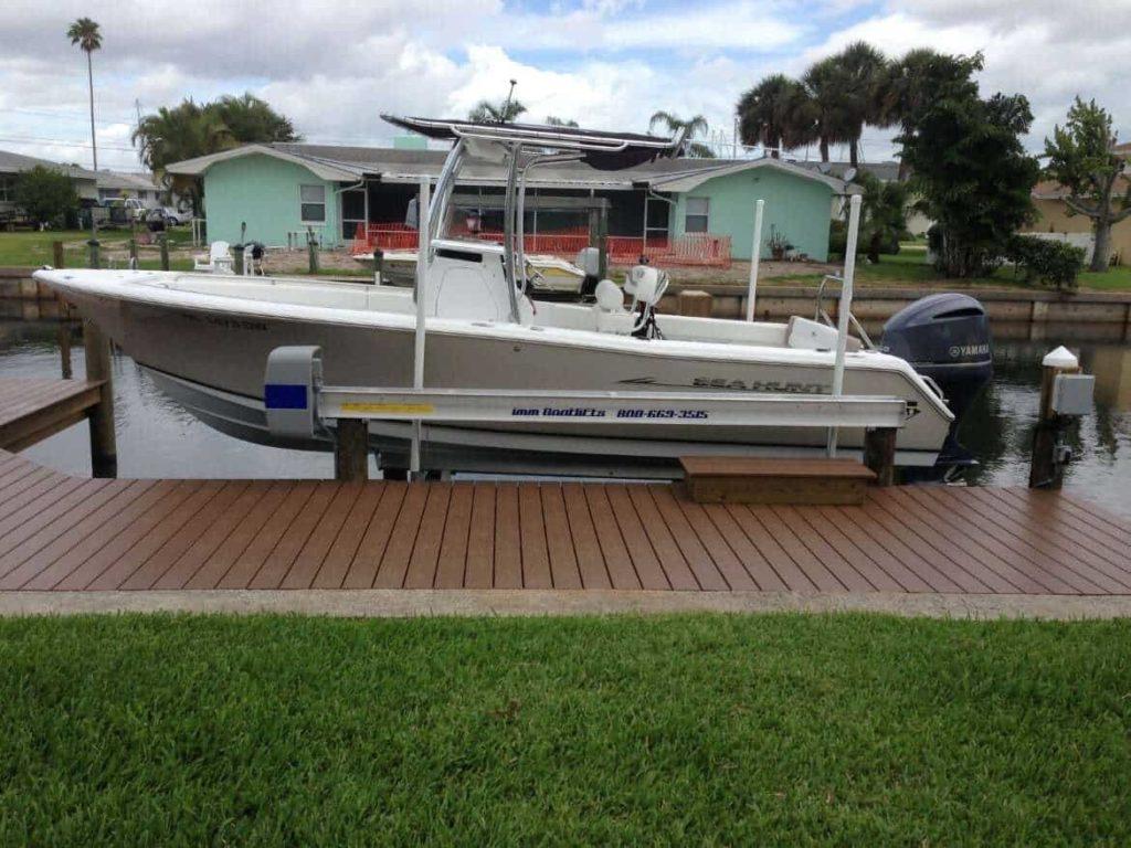 boat lift home seawall