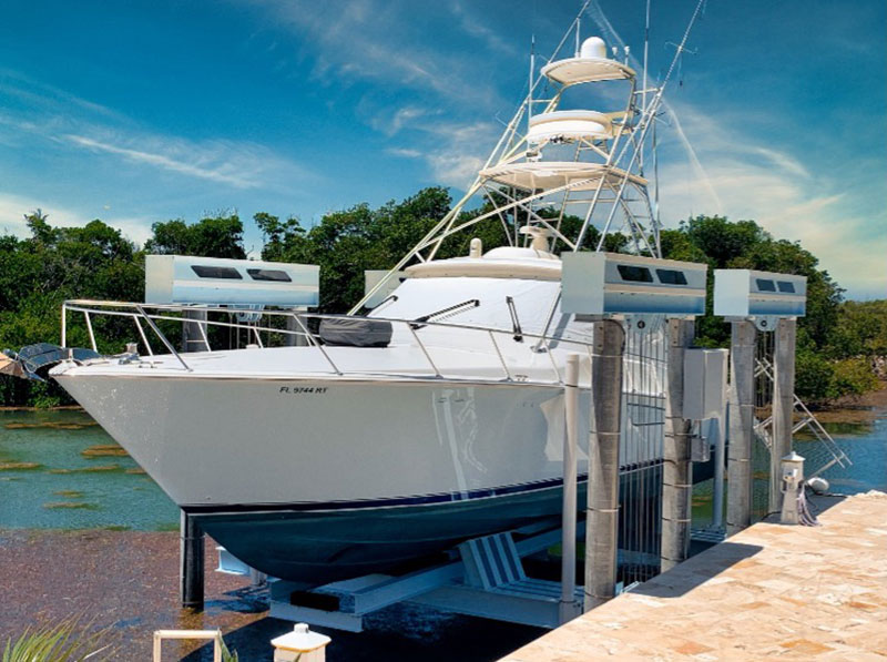 imm powder coated yacht and lift
