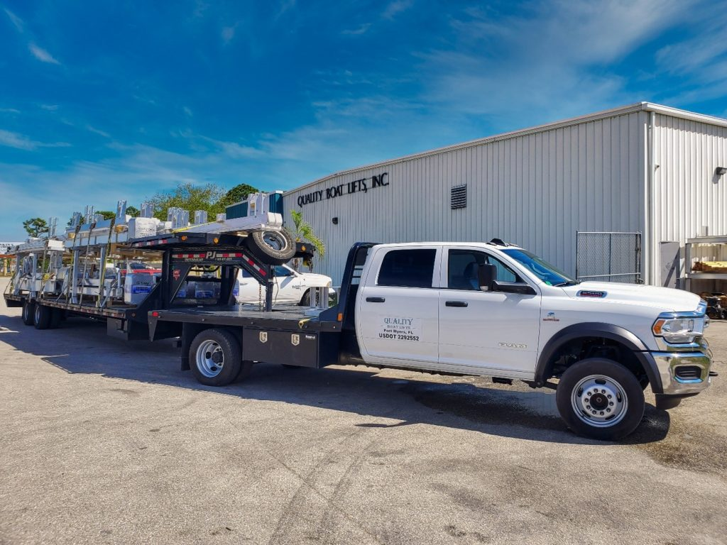 The IMM Quality Boat Lifts fleet is ready to deliver your boat lift from across the country in FL