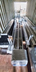 IMM Quality Boat Lifts shipping container to Norway